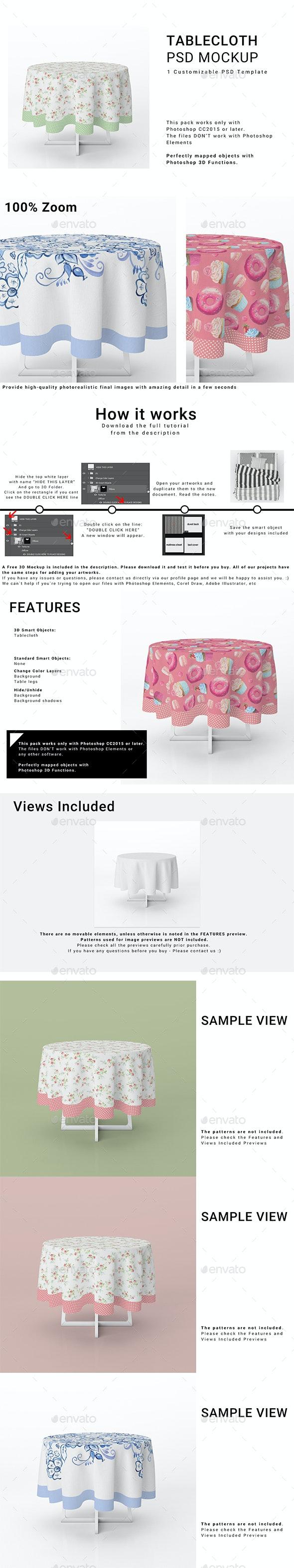 Round Tablecloth Mockup Set - Print Product Mock-Ups