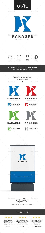 K Letter Karaoke Logo - Letters Logo Templates