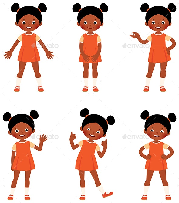 Set of Children - People Characters
