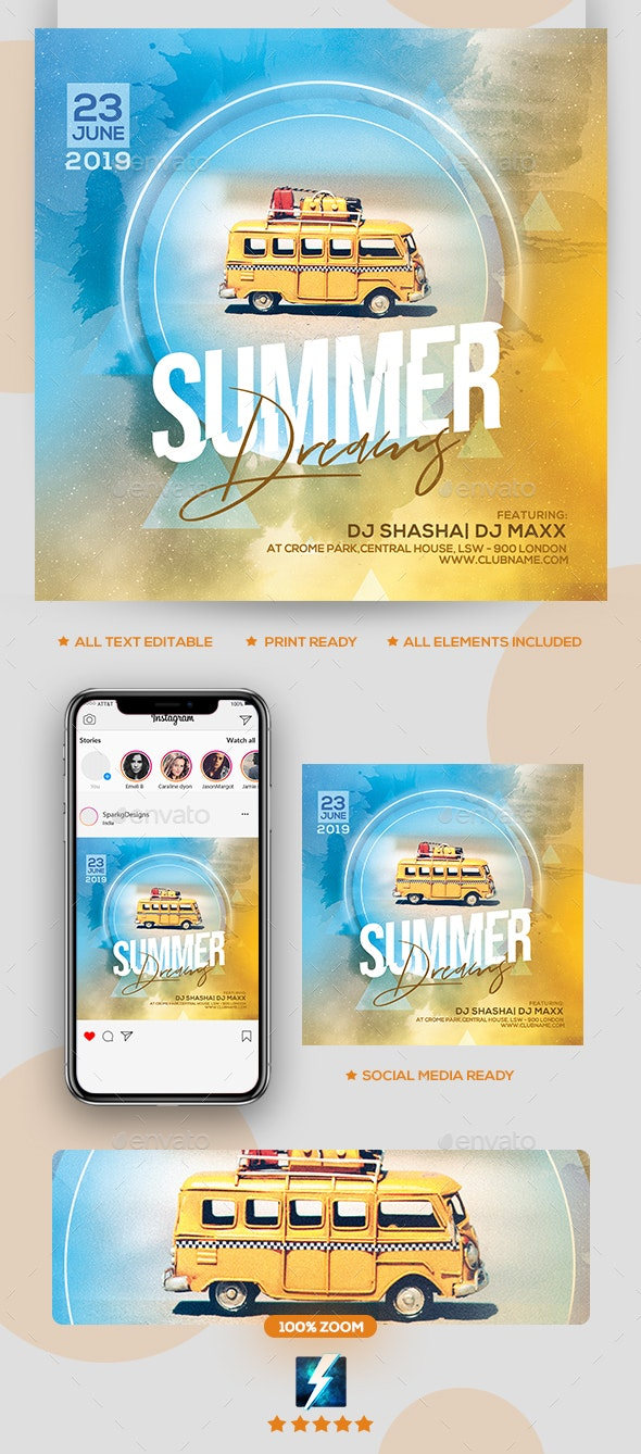 Dreaming Summer Party Flyer - Clubs & Parties Events