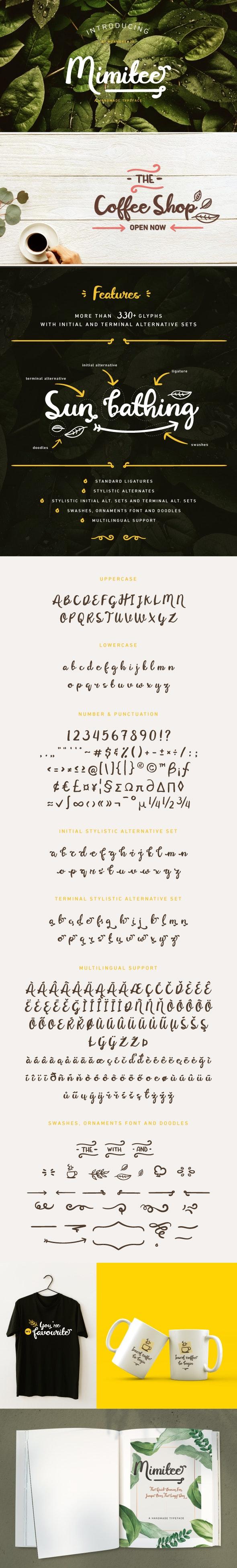 Mimitee Font - Hand-writing Script