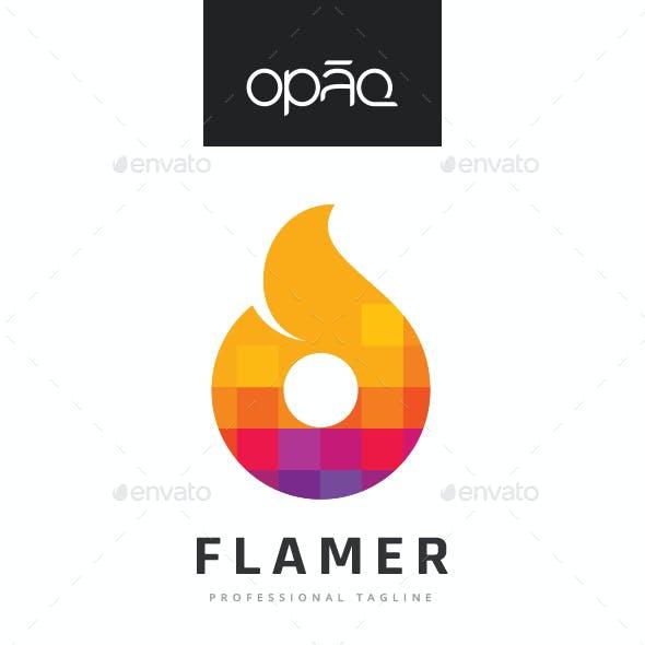 Flame Pixel Logo