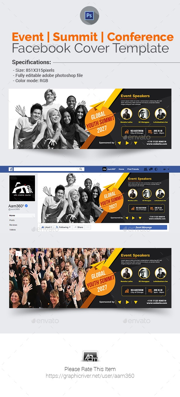 Event/Summit/Conference Facebook Cover - Facebook Timeline Covers Social Media