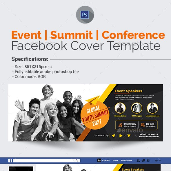 Event/Summit/Conference Facebook Cover