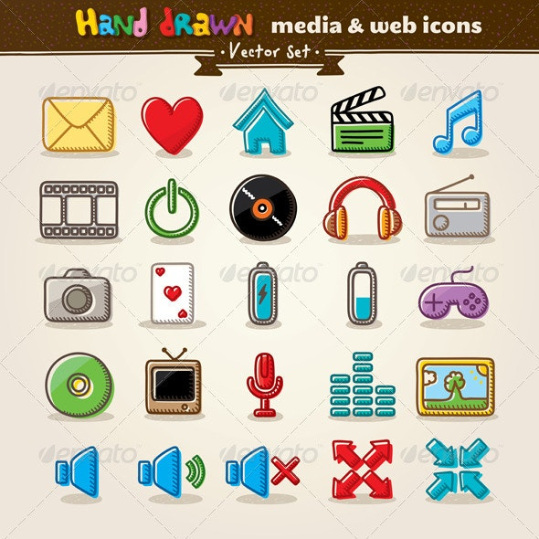 Media And Entertainment Web Icons - Media Icons