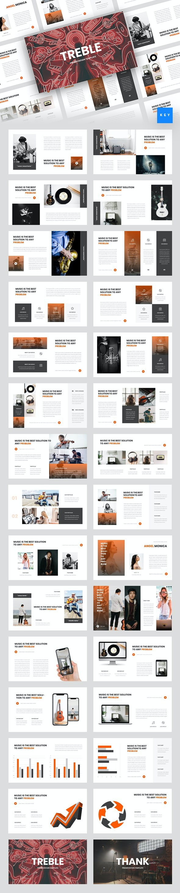 Treble - Music Keynote Template - Miscellaneous Keynote Templates