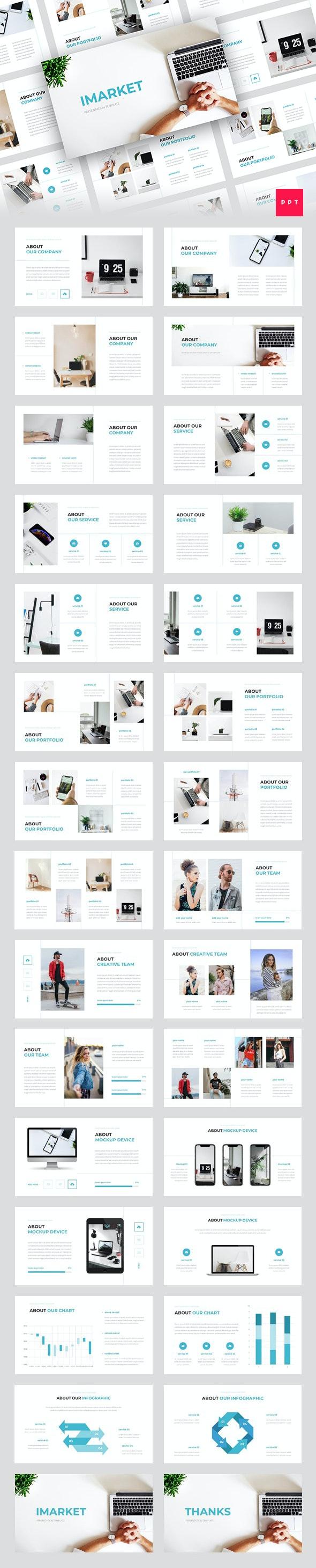 Imarket - Internet Marketing PowerPoint Template - Business PowerPoint Templates