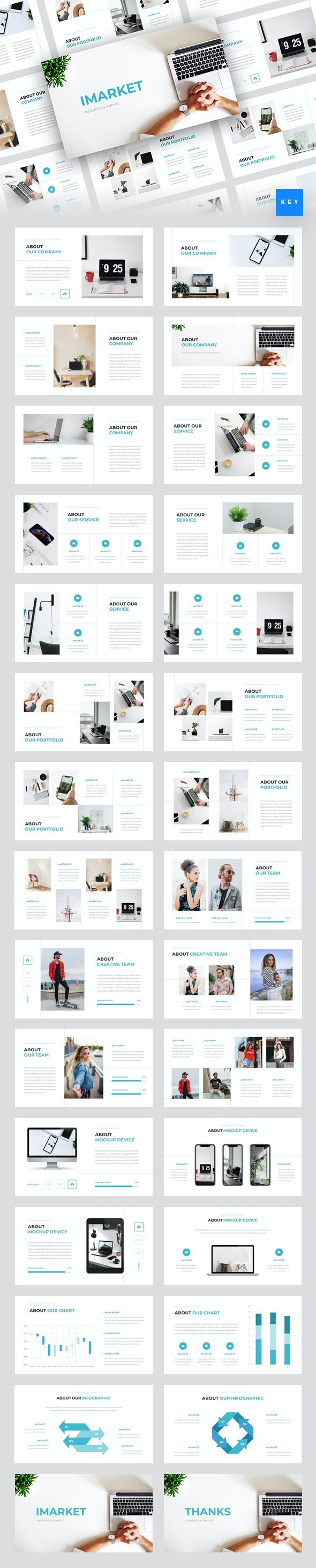 Imarket - Internet Marketing Keynote Template - Business Keynote Templates