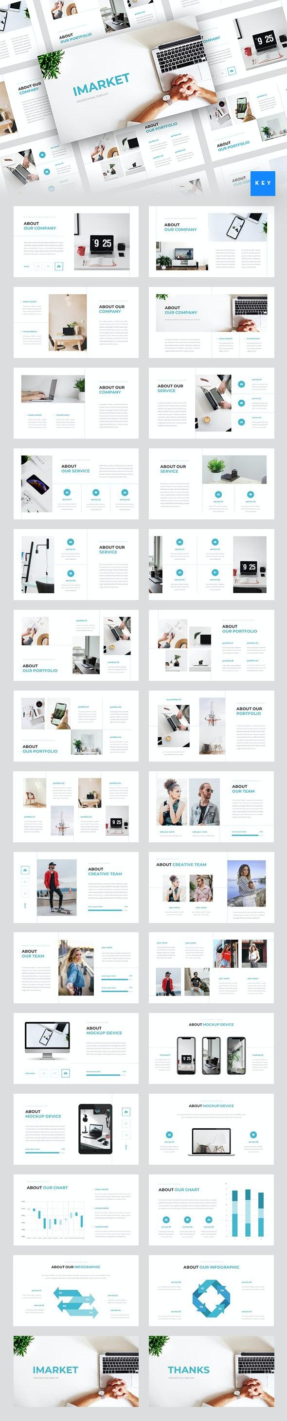 Imarket - Internet Marketing Keynote Template - Business Keynote Templates