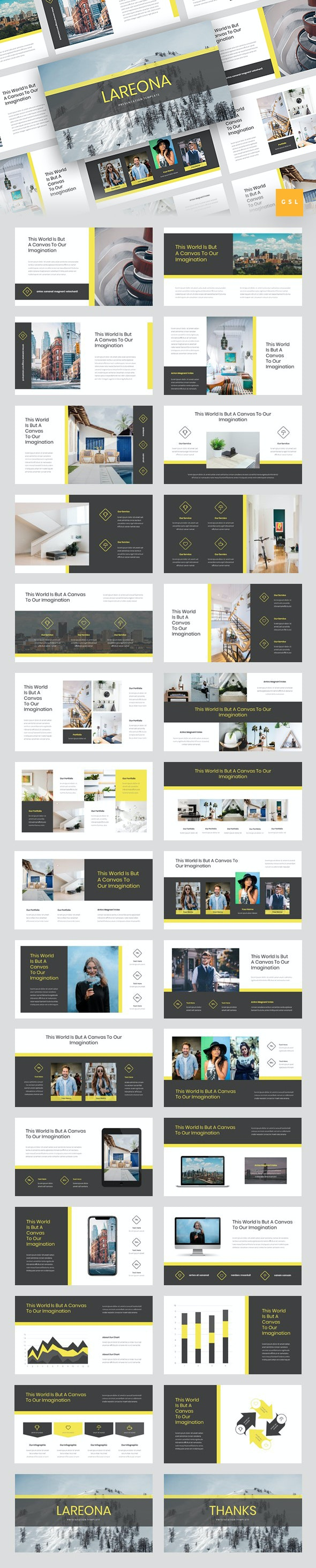 Lareona - Creative Google Slides Template - Google Slides Presentation Templates