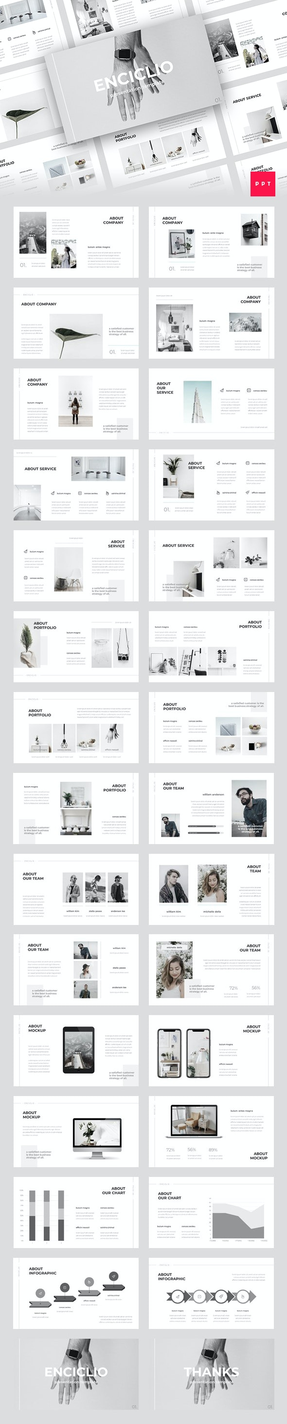 Enciclio - Creative PowerPoint Template - Creative PowerPoint Templates