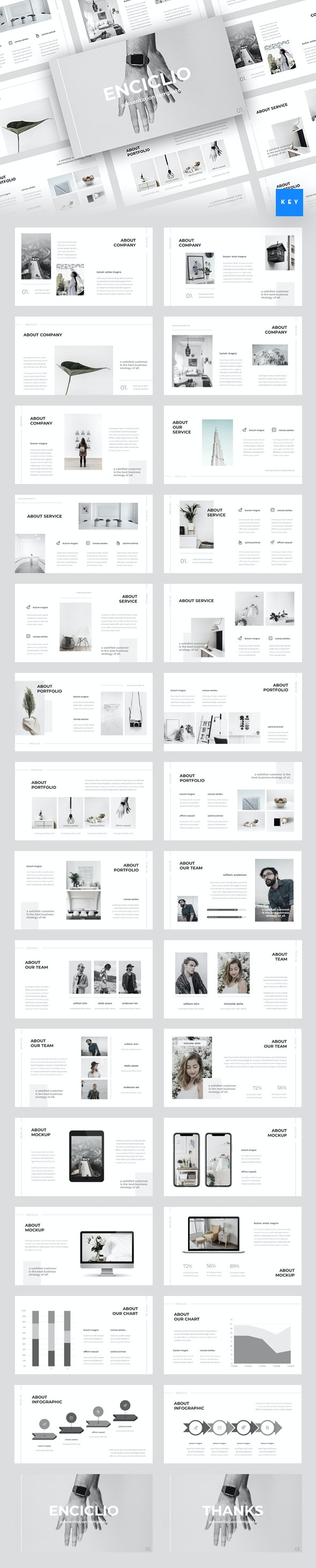 Enciclio - Creative Keynote Template - Creative Keynote Templates