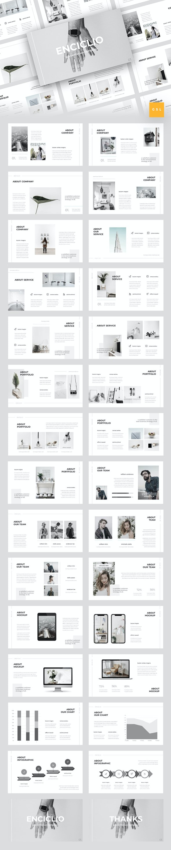 Enciclio - Creative Google Slides Template - Google Slides Presentation Templates