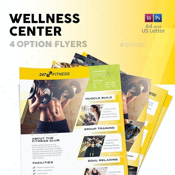 Wellness Center Flyers 3 – 4 Options