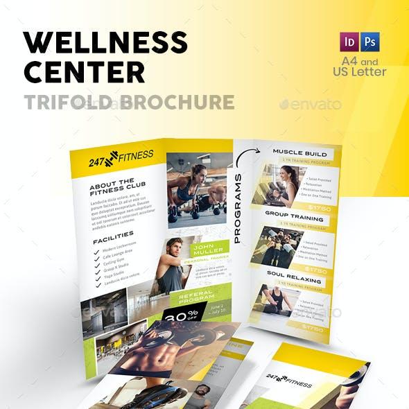Wellness Center Trifold Brochure 3