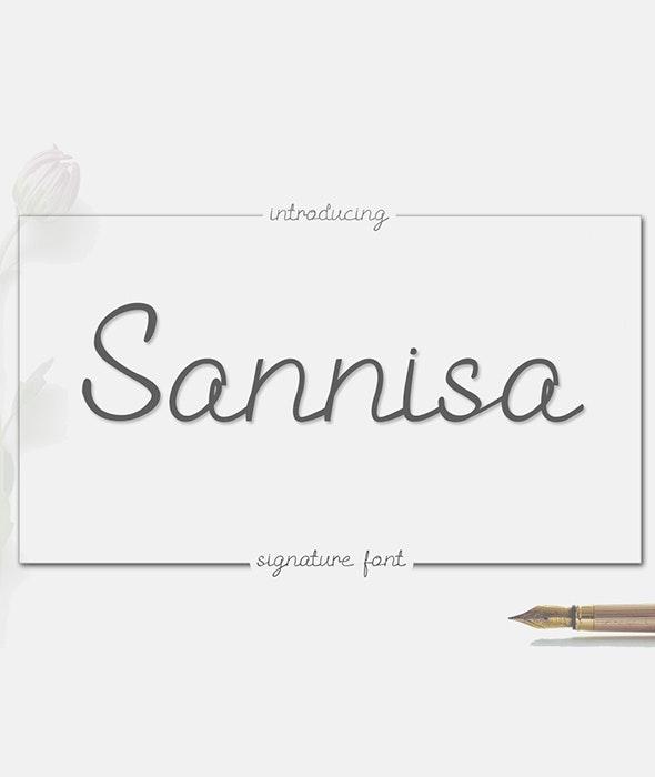 Sannisa - Script Fonts