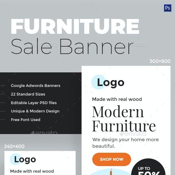 Furniture Sale Web Banners