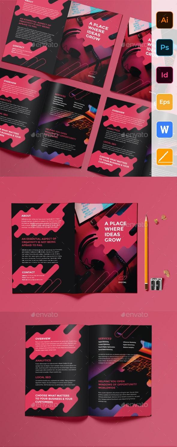 Digital Advertising Agency Bifold Brochure - Corporate Brochures