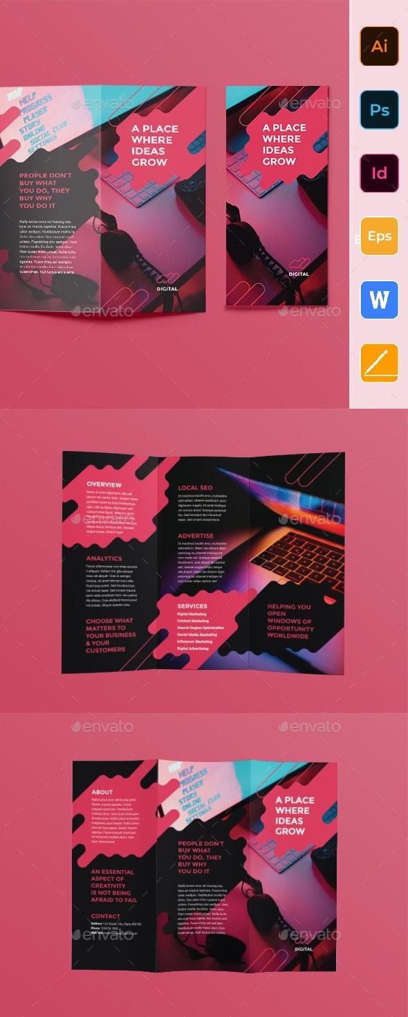 Digital Advertising Agency Trifold Brochure - Corporate Brochures