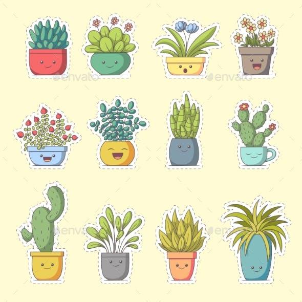 Plants Sticker Set