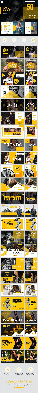 50 Facebook Multipurpose Banners - Social Media Web Elements