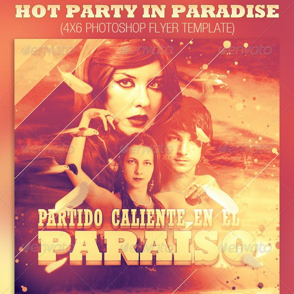 Hot Party in Paradise Flyer Template