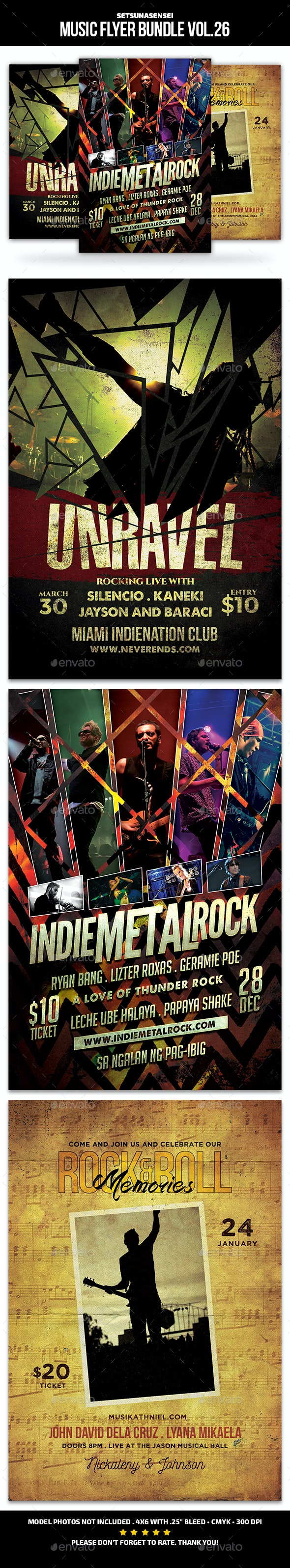 Music Flyer Bundle Vol. 26 - Concerts Events