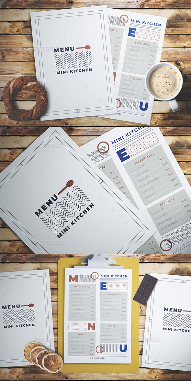 Minimal Menu - Food Menus Print Templates