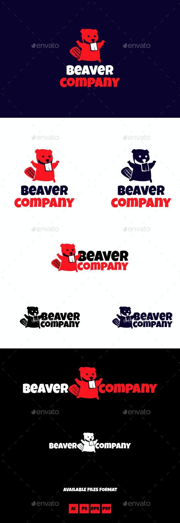 Beaver Company logo template - Animals Logo Templates