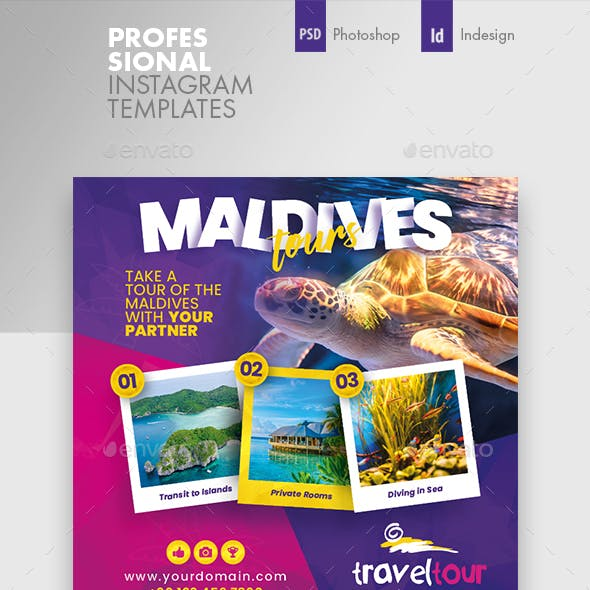 Travel Tours Instagram Templates