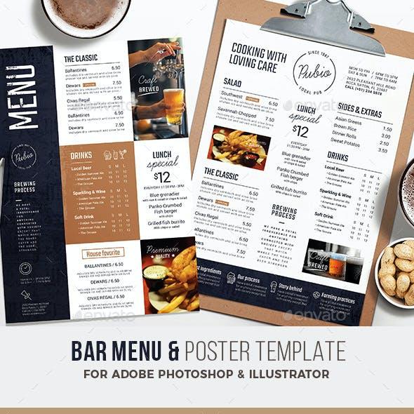 Bar Menu / Flyer