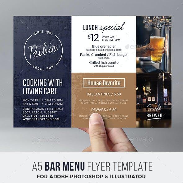 Bar Menu Flyer