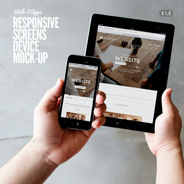 Responsive Screens Device Mock-Up