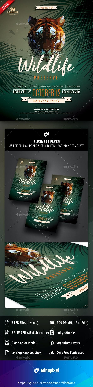 Wildlife Preserve Business Flyer - Commerce Flyers