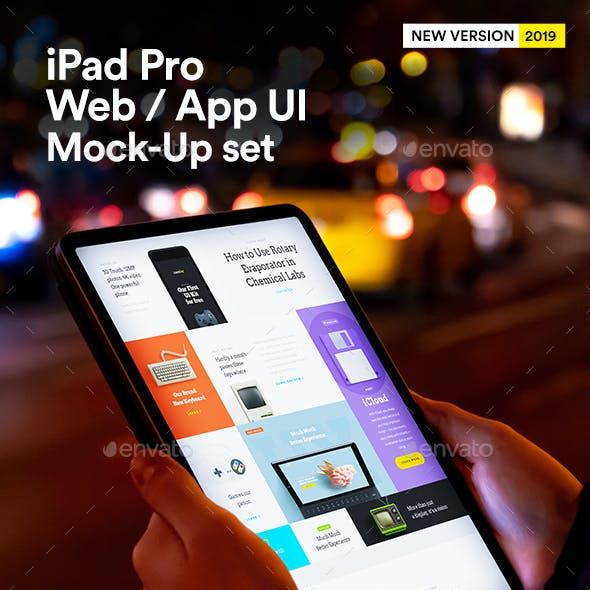 iPad App Mock-Up Web UI Tablet Black