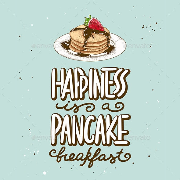 Happiness is a Pancake Breakfast - Food Objects