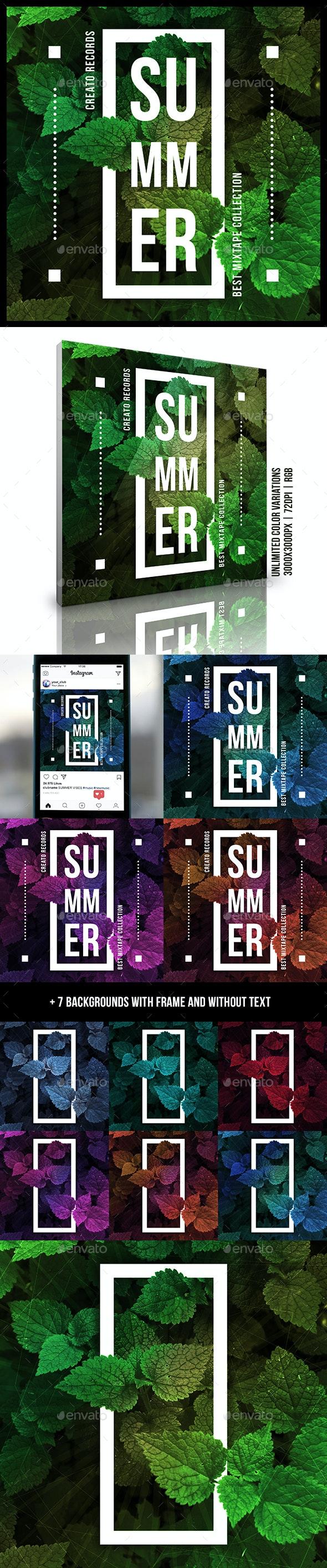 Summer Music Album Cover Artwork Template v2 - Miscellaneous Social Media