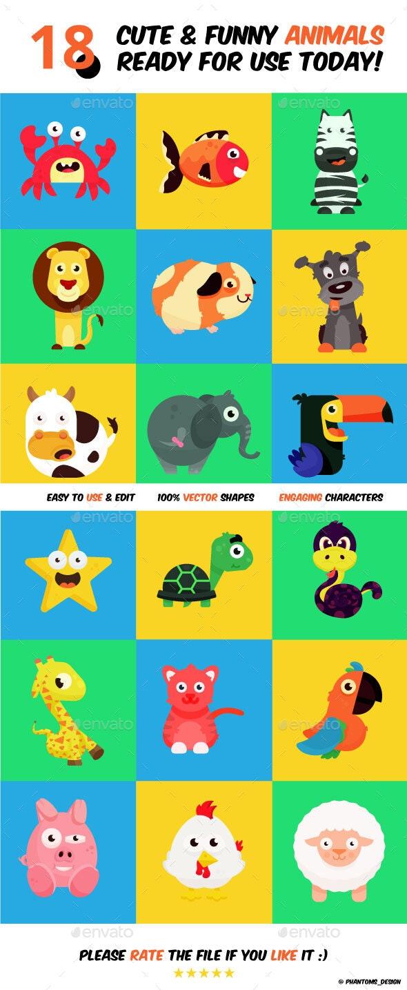 Animals Vector Set - Animals Characters