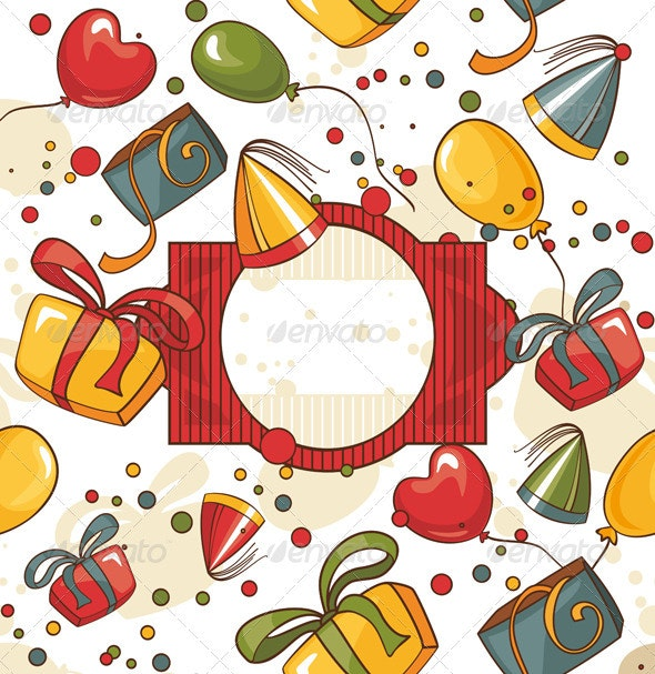 Happy Birthday Card - Backgrounds Decorative