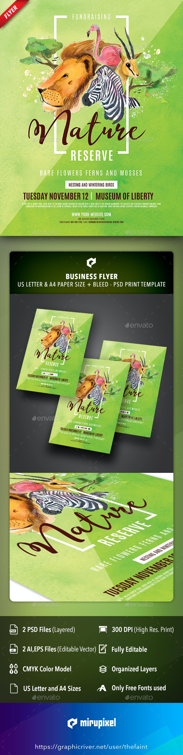 Nature Reserve Business Flyer - Commerce Flyers