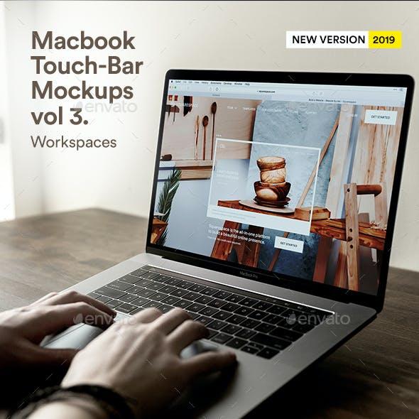 Macbook Web App UI Mock-Up Laptop Touch-Bar