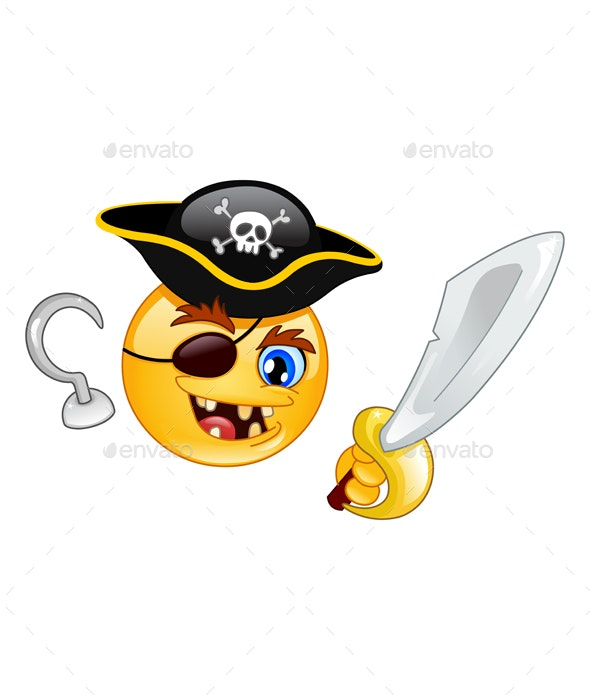 Pirate Emoticon - People Characters