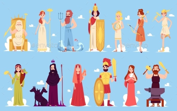 Greek God and Goddess - Miscellaneous Vectors