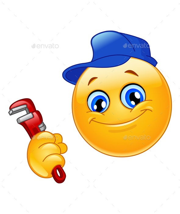 Plumber Emoticon - People Characters