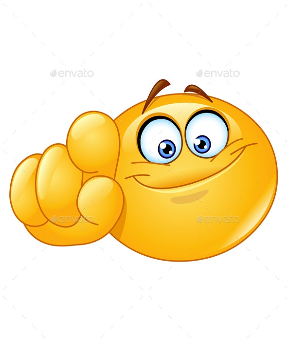 Pointing at You Emoticon - People Characters