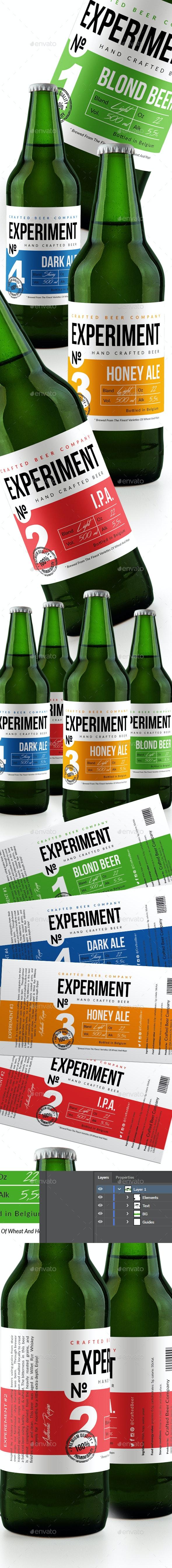 Beer Label v.3 - Packaging Print Templates