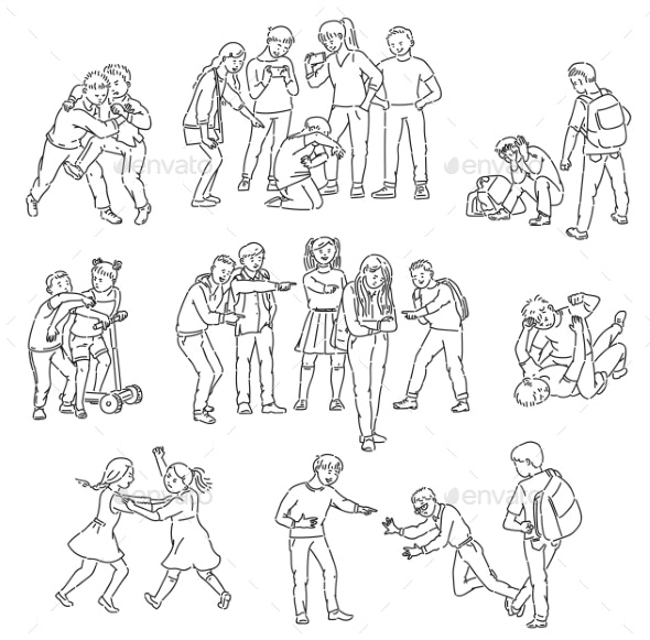 Outline Sets of Conflict and Fights - People Characters