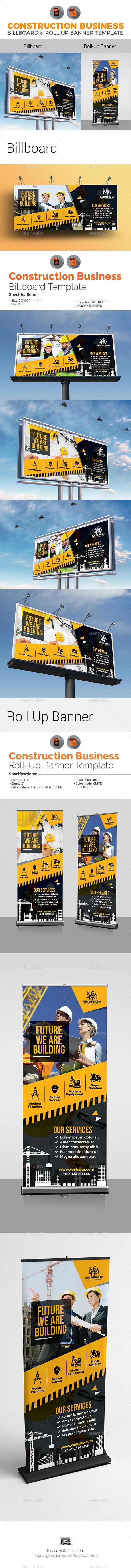 Construction Signage Bundle - Signage Print Templates