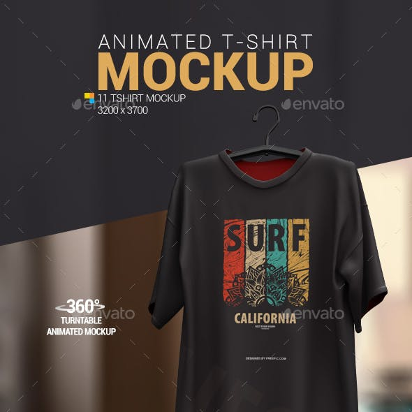 Animated T-Shirt Mockup