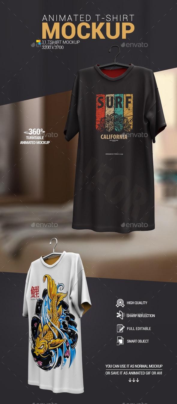 Animated T-Shirt Mockup - T-shirts Apparel